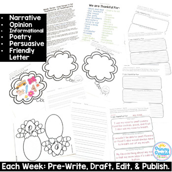 Writing Lessons: Holiday 15 Complete Lessons for Primary K-2