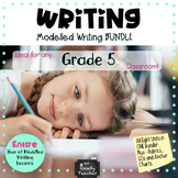 Writing Lessons, Prompts and Assessment BUNDLE Grade 5