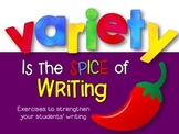 Writing Lessons: Variety in Sentence Structure, Length & Openings