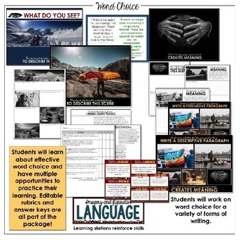 Writing Lessons: Word Choice (Distance learning options)
