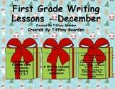 Writing Lessons for December - 1st Grade