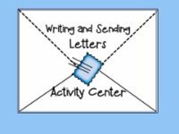 Writing Letters Activities Center