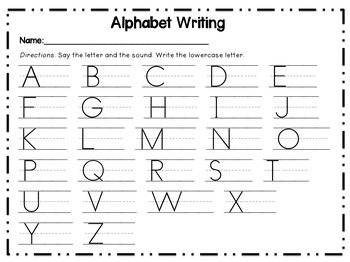 Writing Letters, Beginning Sounds, and CVC Words