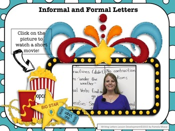 Writing: Friendly/Business Letters PowerPoint and Student Notes Newly Revised