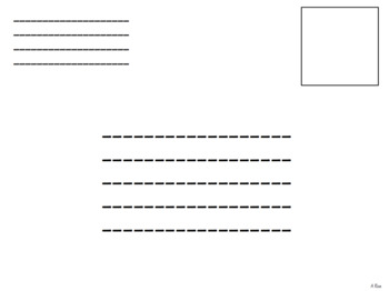 Writing Letters and Address Practice *EDITABLE*