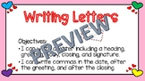 Writing Letters great for Valentine Letters