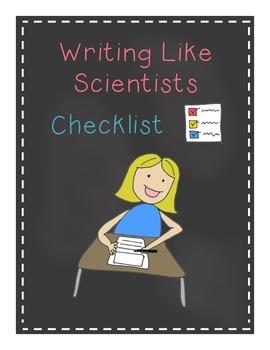 Writing Like Scientists Checklist