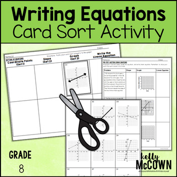 Writing Equations Card Sort