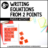 Writing Equations from Two Points: Puzzle