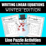 Writing Linear Equations- Algebra Winter Puzzle
