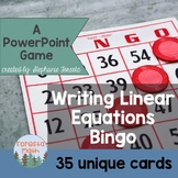 Writing Linear Equations Bingo