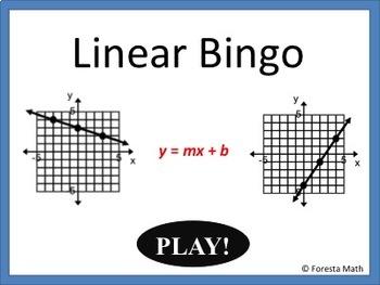 Writing Linear Equations Bingo