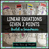 Writing Linear Equations Build a Snowman Activity