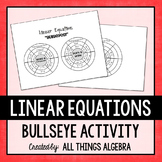 Writing Linear Equations Bullseye Activity