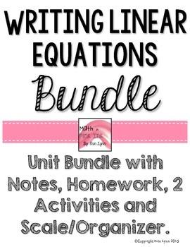 Writing Linear Equations Bundle PDF 8.F.2.4, 8.F.B.4