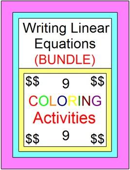 LINEAR EQUATIONS: WRITE LINEAR EQUATIONS BUNDLE - 9 COLORI