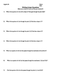 Writing Linear Equations Comprehensive Assignment