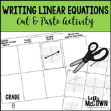 Writing Linear Equations Cut & Paste Activity