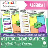 Writing Linear Equations Digital Task Cards