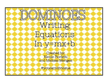 Writing Linear Equations Dominoes