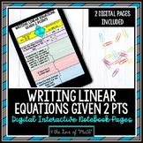 Writing Linear Equations Given 2 Points Digital Interactiv