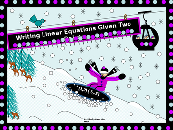 Power-Point:  Writing Linear Equations Given Two Points