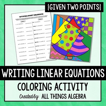 Writing Linear Equations Given Two Points Coloring Activity
