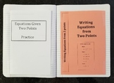 Writing Linear Equations Given Two Points (Foldables)