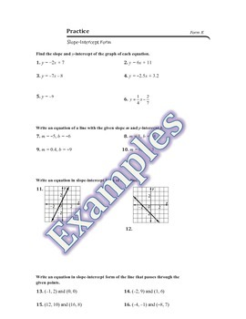 Writing Linear Equations Guided Notes, Homework, Powerpoint
