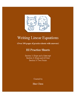 Writing Linear Equations (HI Practice Sheets)