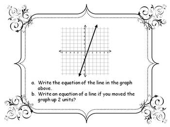 Writing Linear Equations: Hot Seat Style