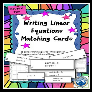Writing Linear Equations Matching Card Set--Double Set