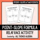 Writing Linear Equations (Point-Slope Formula) Relay Races