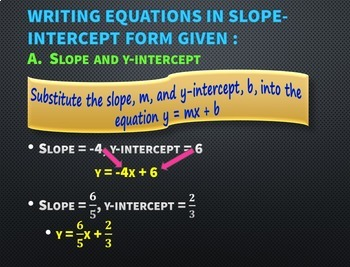 Writing Linear Equations PowerPoint Lesson