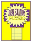 Writing Linear Equations Puzzle