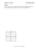 Writing Linear Equations Review Low Performing