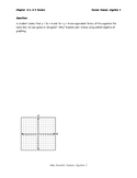 Writing Linear Equations Review Middle Performing