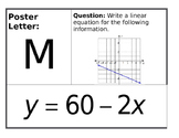Writing Linear Equations Scavenger Hunt