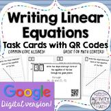Writing Linear Equations Slope-Intercept Form Task Cards G
