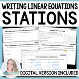 Writing Linear Equations Stations - Distance Learning