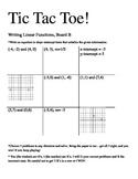 Writing Linear Equations Tic Tac Toe