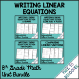 Writing Linear Equations Notes and Practice Bundle | Dista