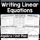 Writing Linear Equations Unit Plan