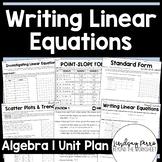 Writing Linear Equations Unit Plan