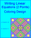 Writing Linear Equations Using Two Points # 2 Coloring Activity