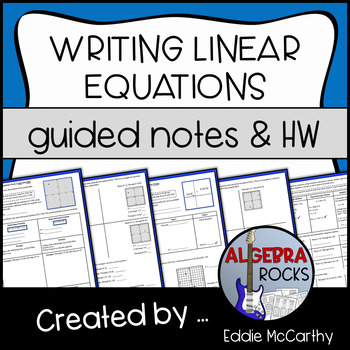 Writing Linear Equations (Given a Point and Slope & Given 2 Points)