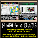 Halloween Algebra Writing Linear Equations from Standard to Slope-Intercept Form