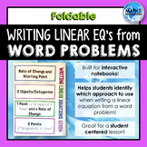 Writing Linear Equations from Word Problems & Applications