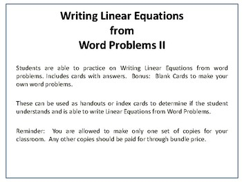 how to solve linear equations word problems
