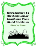Writing Linear Equations from Word Problems - Step by Step
